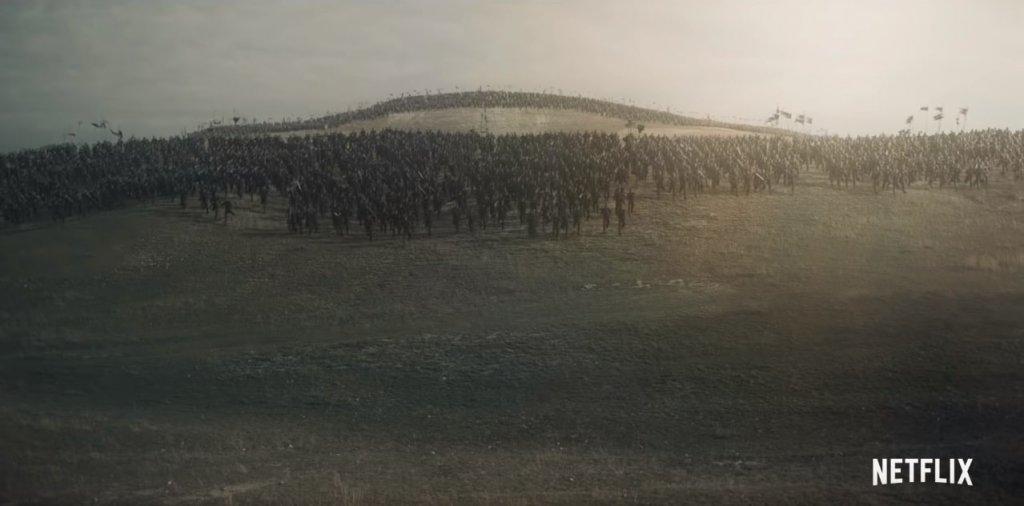 "Масштабная битва. Кадр из тизера ""Ведьмака"""