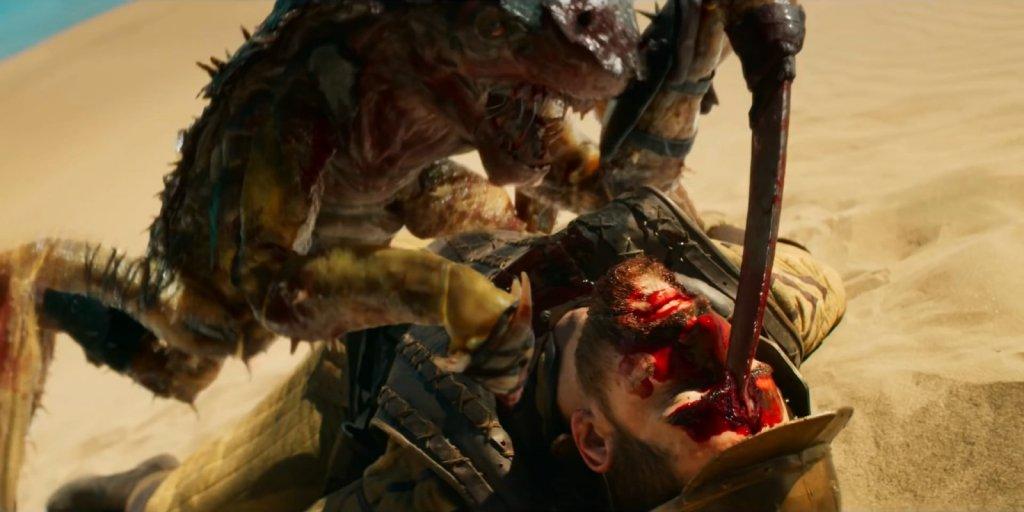 """Идр убивает солдата. Сцена из сериала """"Ведьмак"""""""