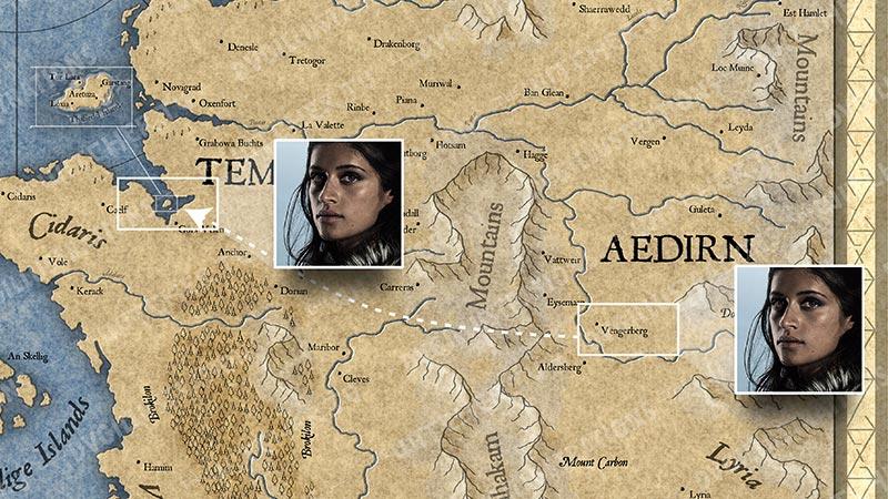 """Карта Континента """"Ведьмака"""". События 2 серии."""