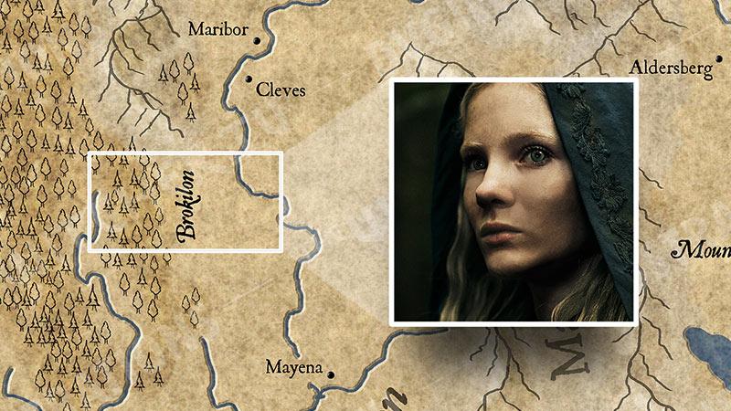 """Карта Континента """"Ведьмака"""". События 4 серии."""