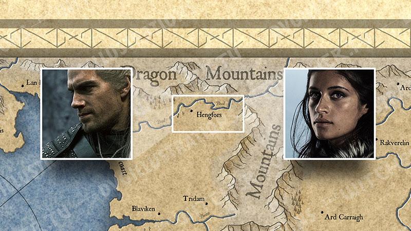 """Карта Континента """"Ведьмака"""". События 6 серии."""