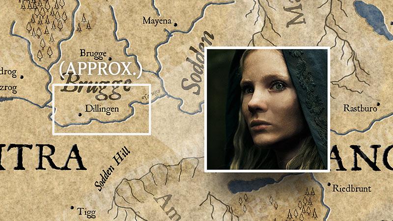 """Карта Континента """"Ведьмака"""". События 7 серии."""