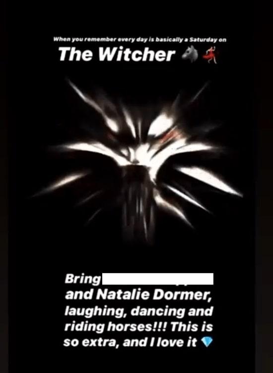Пост в инстаграм с упоминанием Натали Дормер
