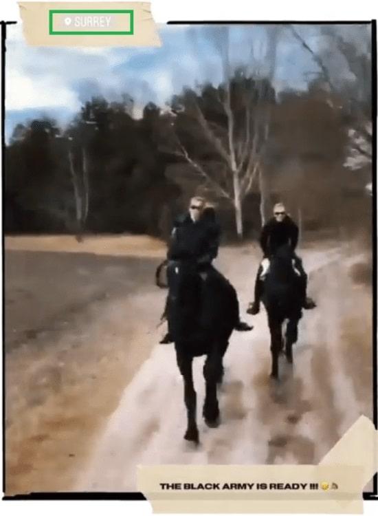 Натали Дормер на лошади в графстве Суррей