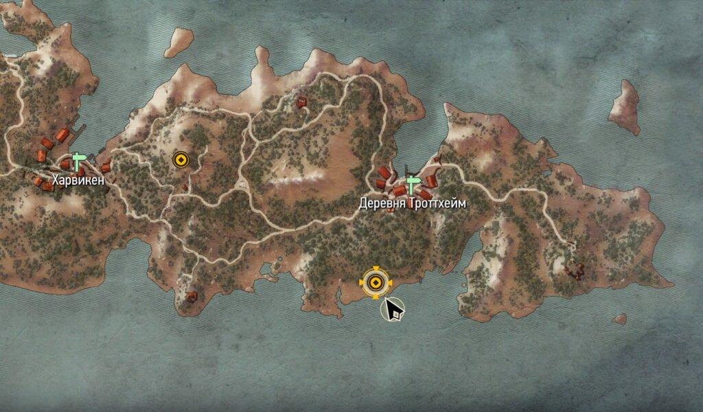 Пещера на юго-восточном острове. Скеллиге.